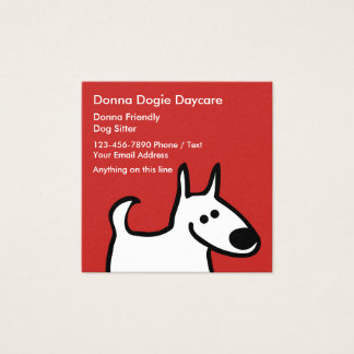Simple Pet Sitter Businesscards Square Business Card