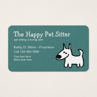 Simple Pet Sitter Design Business Card
