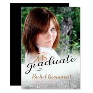 Simple Photo Graduation Announcement