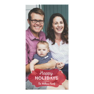 Simple Photo Happy Holidays Card Clean Modern cute Photo Cards