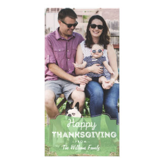 Simple Photo Happy Thanksgiving Card Simple cute Photo Card Template