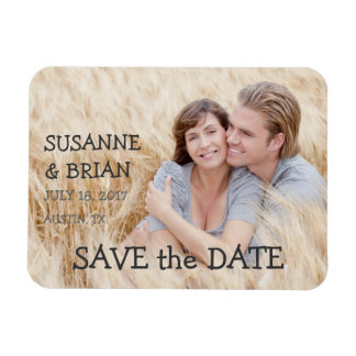 SIMPLE PHOTO SAVE THE DATE | COUNTRY RECTANGULAR PHOTO MAGNET
