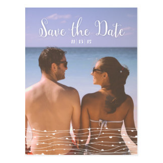 Simple Photo 'Save the Date' Vertical Postcard
