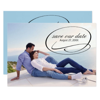 Simple Photo Swashes - Save the Date Card