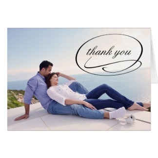Simple Photo Swashes - Thank You Note Card