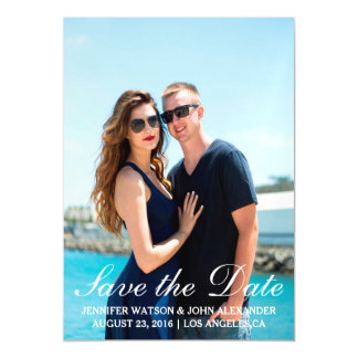 Simple Photo Template Save The Date Magnetic Invitations