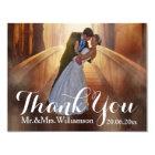 Simple Photo Wedding Thank You Card