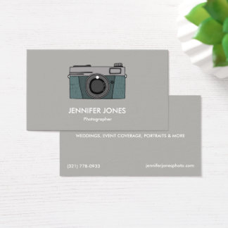 Simple Photography Camera Business Cards