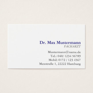 simple physician visiting card