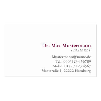 simple physician visiting card business card templates