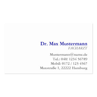 simple physician visiting card pack of standard business cards
