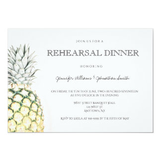 Simple pineapple rehearsal dinner invitations