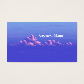 Simple Pink and Blue Cloud Painting Business Card