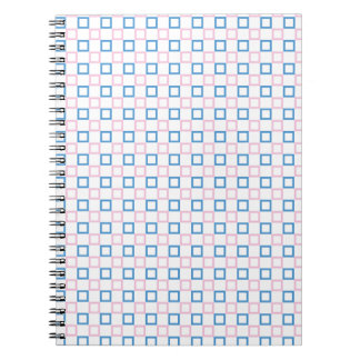 Simple pink and blue square notebook