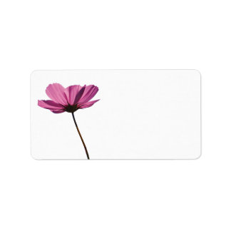 Simple pink flower label
