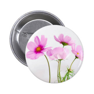 Simple Pink Flowers 6 Cm Round Badge