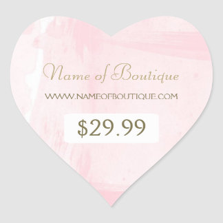 Simple Pink Gold Watercolor Boutique Price Tag