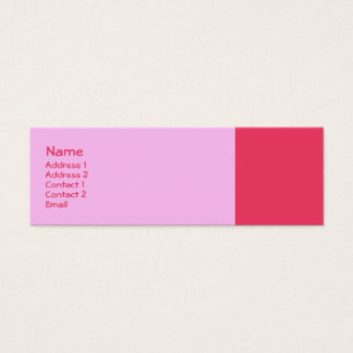 Simple pink mini business card