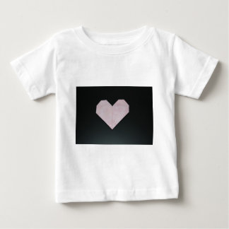simple pink origami heart shirt
