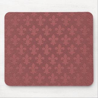 Simple pink salmon imperial fleur de lis mouse pad