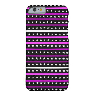 Simple Pink Stars & Stripes Pattern Barely There iPhone 6 Case