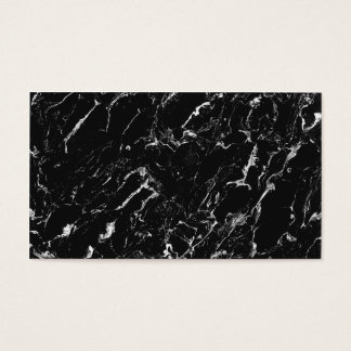 Simple plain black cool modern marble professional business card