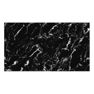 Simple plain black cool modern marble professional pack of standard business cards