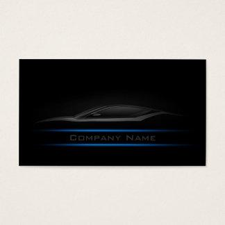 Simple Plain Blue Line Car Business Card