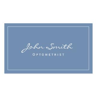 Simple Plain Blue Optometrist Business Card