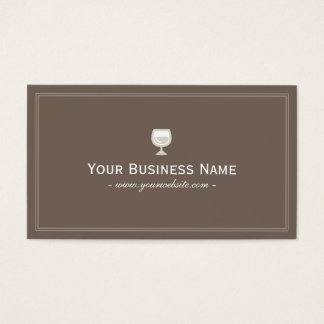 Simple Plain Brown Winery/Wine Club Business card