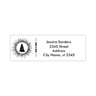 Simple plain Christmas tree  business & family Self-inking Stamp