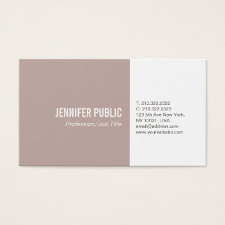 Simple Plain Elegant Colors Modern Professional Business Card
