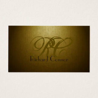 Simple Plain Gold Custom Monogram Cool Card