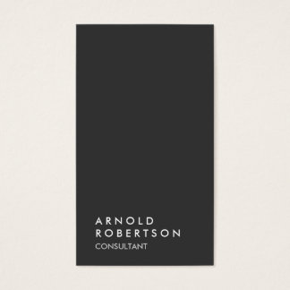Simple Plain Gray Trendy Consultant Minimalist Business Card