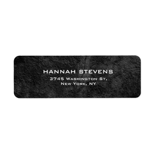 Simple Plain Grey Pattern Elegant Modern Return Address Label