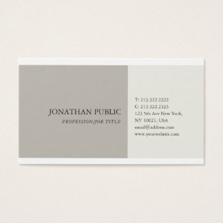 Simple Plain Harmonic Colors Professional Modern Business Card