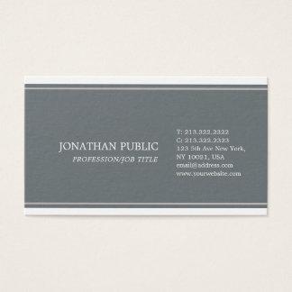 Simple Plain Harmonic Colors Sophisticated Modern Business Card