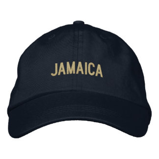 Simple Plain Jamaica Word Custom Color Embroidered Baseball Caps