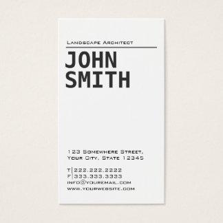 Simple Plain Landscape Architect Business Card