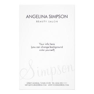 Simple Plain Minimalistic Beauty Salon Price List 14 Cm X 21.5 Cm Flyer