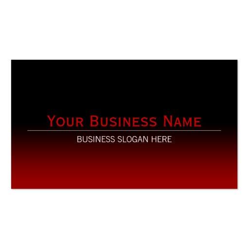 Simple Plain Modern Black & Red Gradient Business Cards