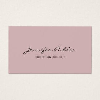 Simple Plain Modern Elegant Colors Professional Business Card