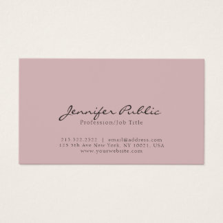 Simple Plain Professional Modern Elegant Colors Business Card