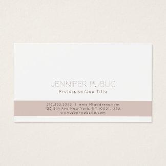 Simple Plain Professional Modern Elegant White Business Card