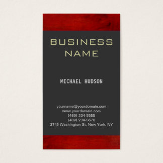Simple Plain Red Gray Consultant Business Card