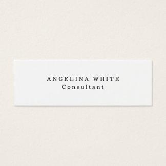 Simple Plain Skinny White Professional Creative Mini Business Card