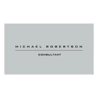 Simple Plain Unique Special Grey Pack Of Standard Business Cards