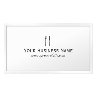 Simple Plain White Dining Catering Business card