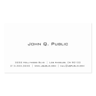 Simple Plain White Professional Pack Of Standard Business Cards
