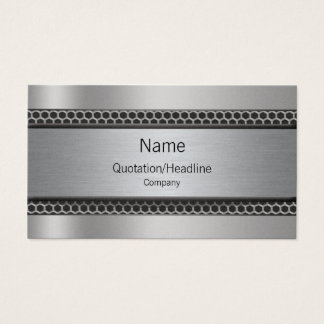 Simple Platinum Style Professional Business Cards